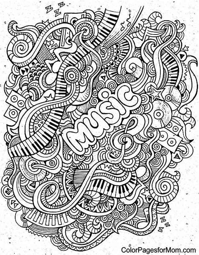 advanced music coloring pages - photo#3