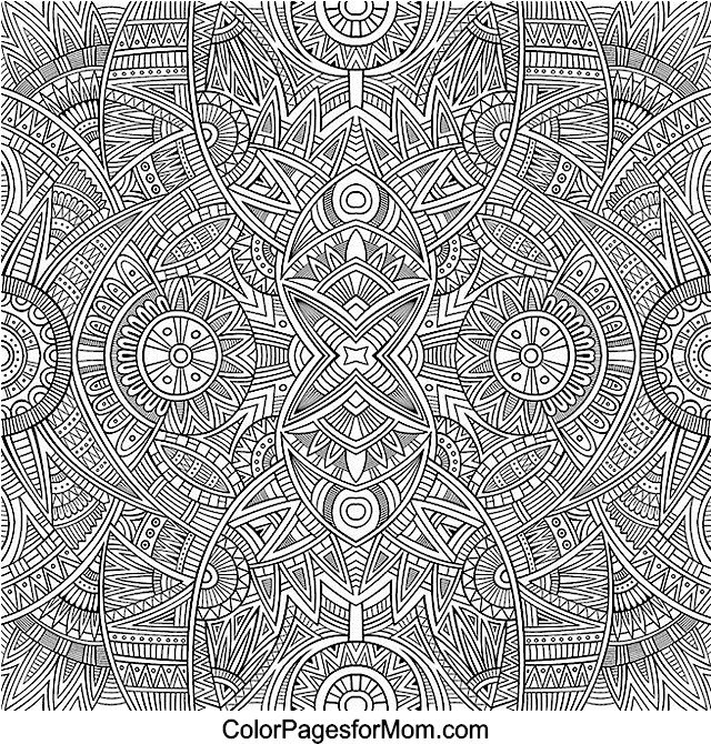 Doodles 63 advanced coloring page