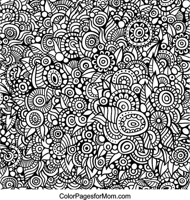 Doodles 72 Advanced Coloring Page
