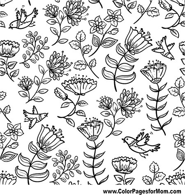 Advanced Coloring Pages - Flower Coloring Page 38