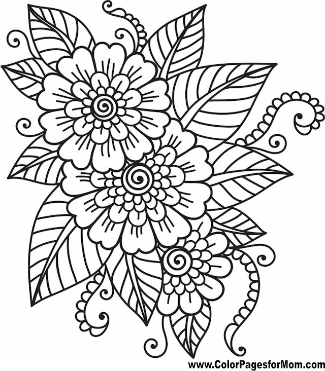 Pics Photos Flower Coloring Pages For Adults