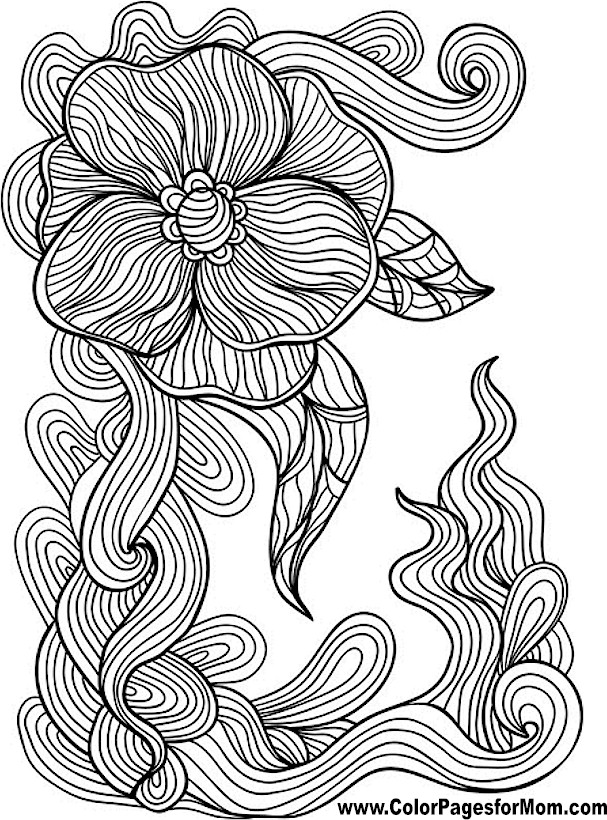 Advanced Coloring Pages - Flower Coloring Page 44