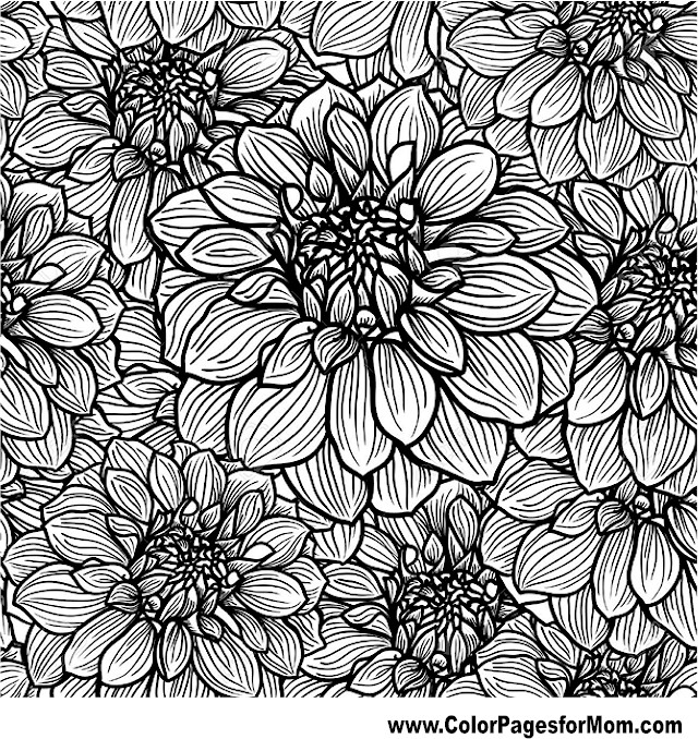 free advanced flower coloring pages - photo#28