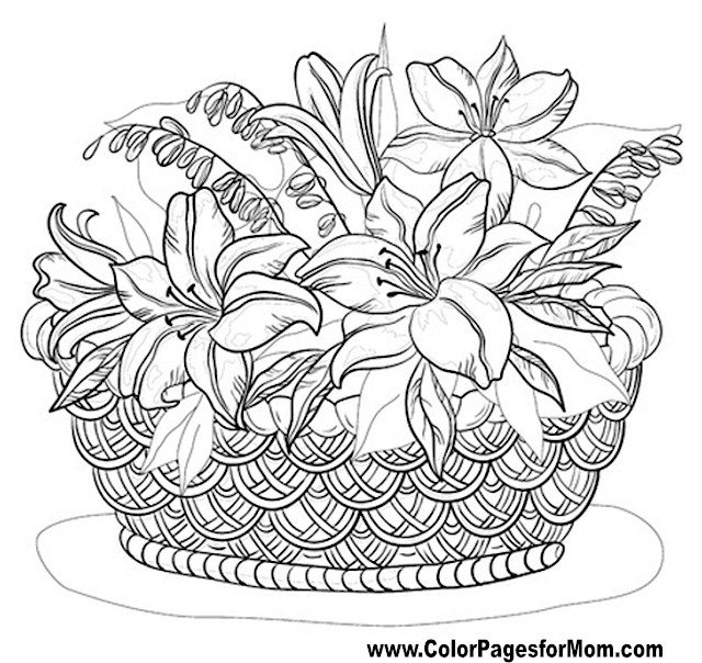 Free Coloring Pages Of Advanced Flowers Advanced Flower Coloring Pages