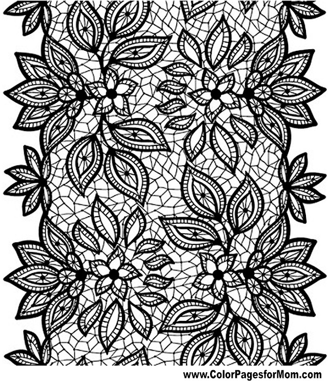Free Adult Flowers Coloring Pages Advanced Flower Coloring Pages