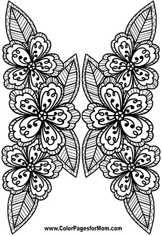 Flower Coloring Pages Advanced : Free flower bookmarks coloring pages