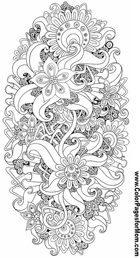 Galerry flower coloring pages adults