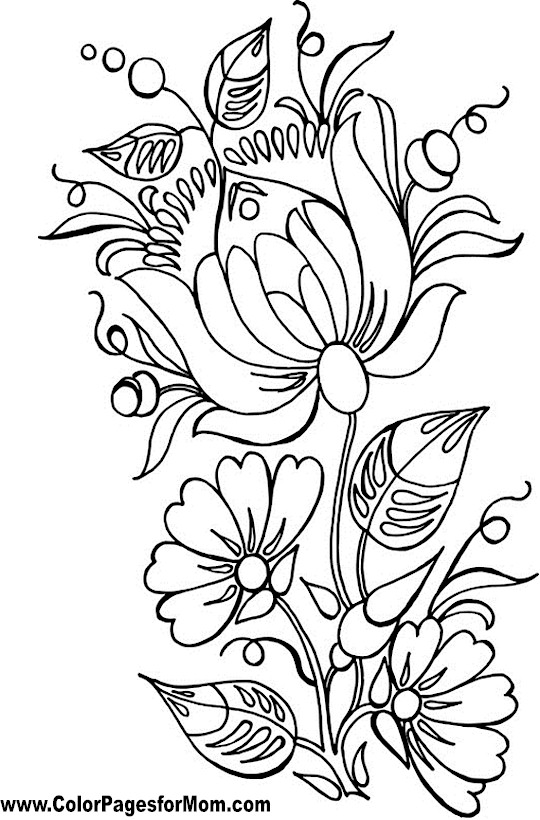 Coloring Pages On Pinterest Flower Pages Mandala