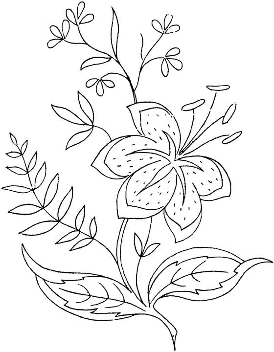 coloring pages of flowers in vase. Flowers 6 Coloring Page