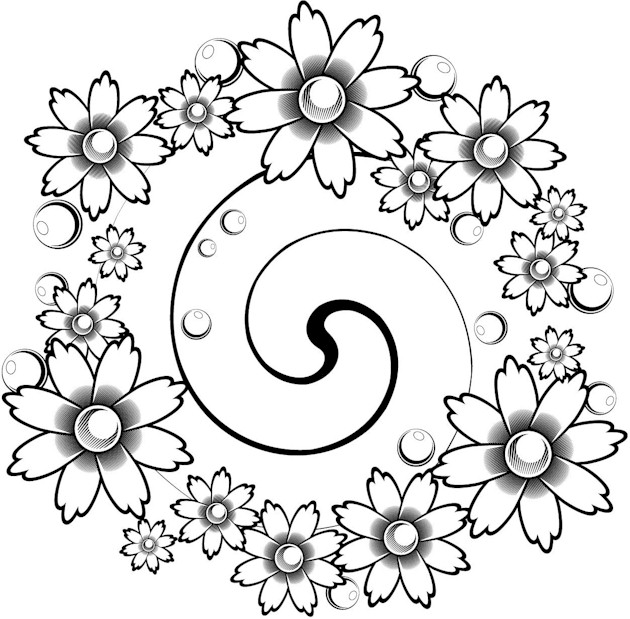 Free Coloring Pages For Adults Abstract Flowers, Download Free ... | 619x630