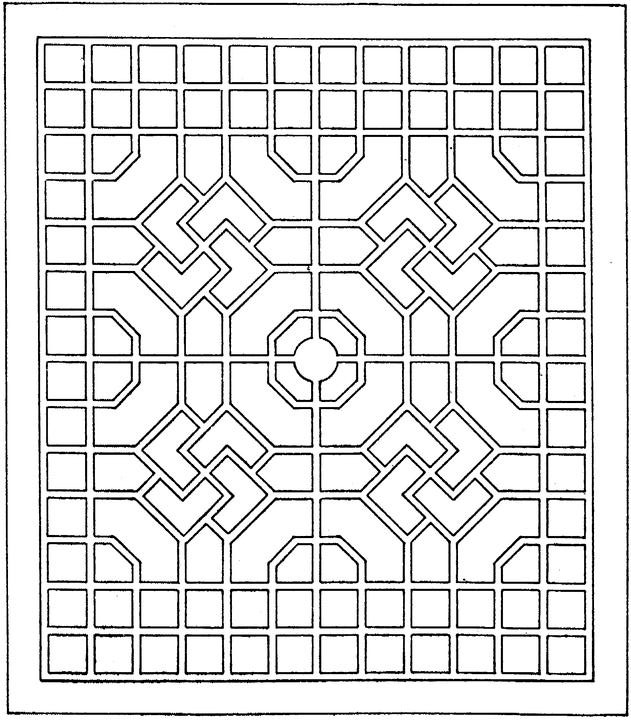 Abstract Shapes Coloring Pages : Free coloring pages of geometric pyramid