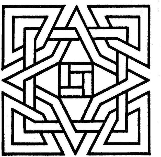 coloring pages geometric shapes - photo#15