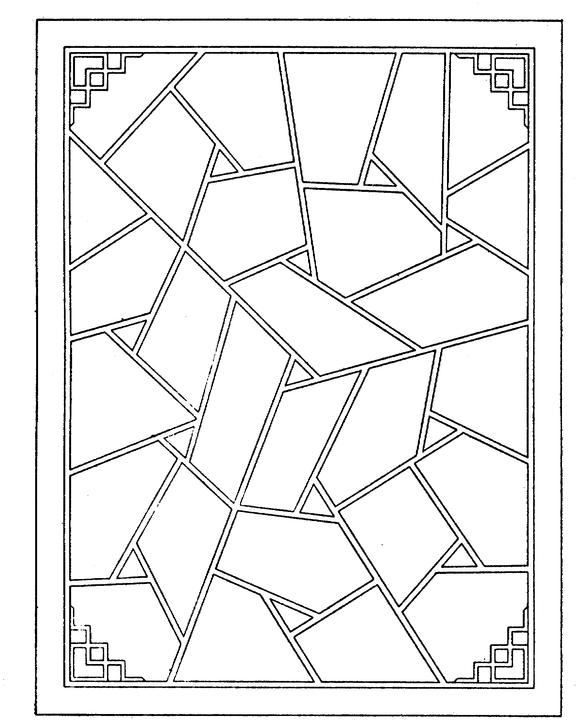free geometric shapes coloring pages - photo#10