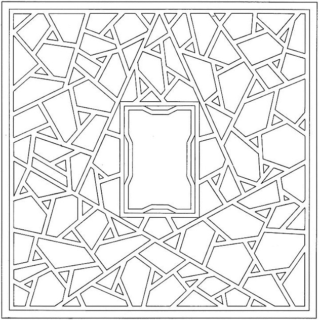 Geometry coloring pages printable for Geometric coloring pages online