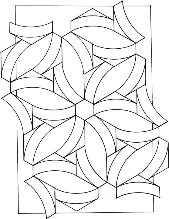 coloring pages geometric shapes - photo#34