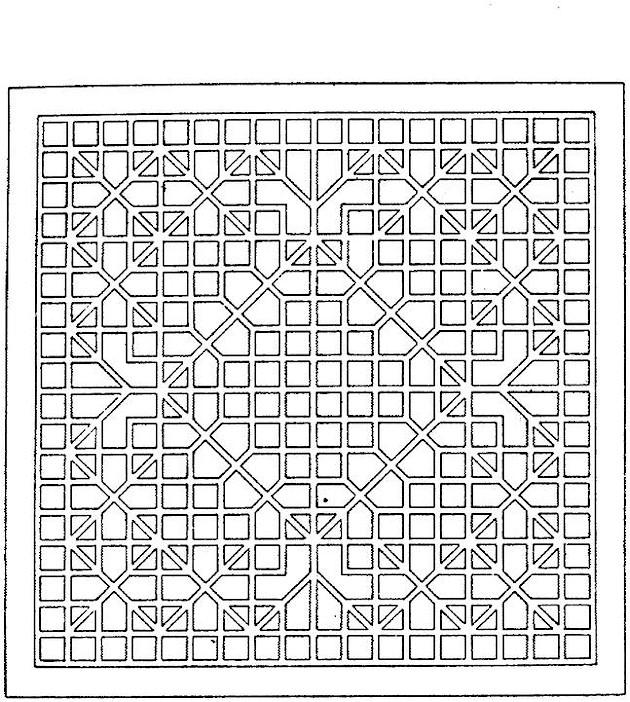 Раскраска геометрический орнамент 158