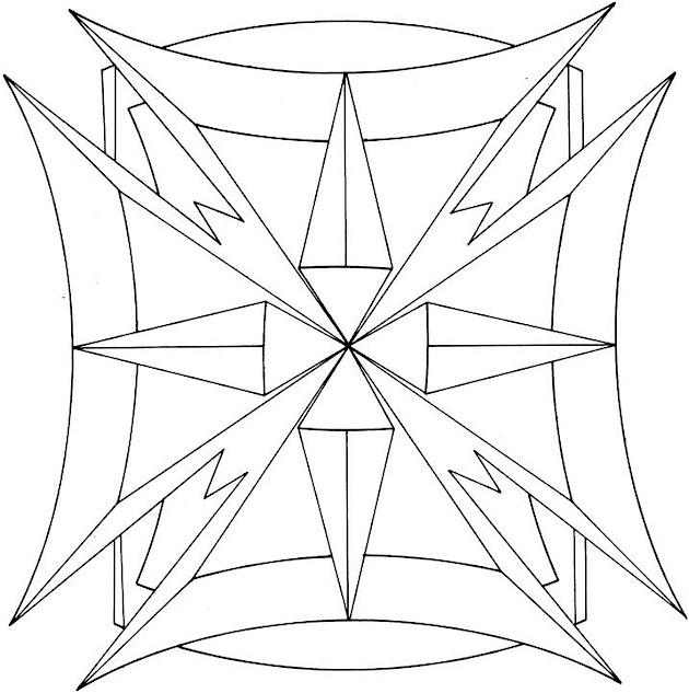 Free printable adult coloring pages geometric coloring pages for Geometric shape coloring pages
