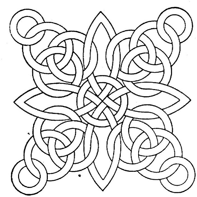 printable geomatric coloring pages - photo#33