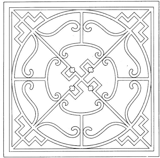 Geometric coloring shapes free coloring pages for Geometric shapes coloring pages