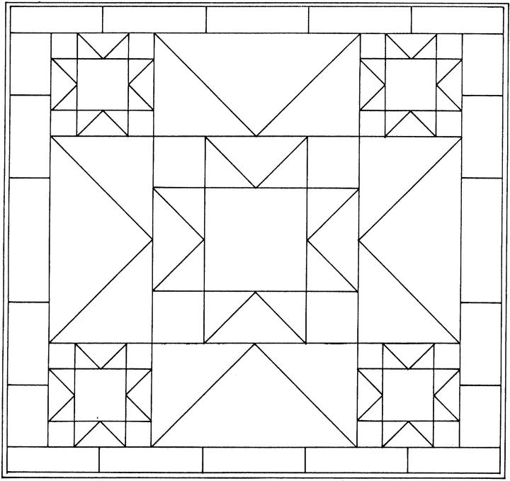 free geometric shapes coloring pages - photo#6