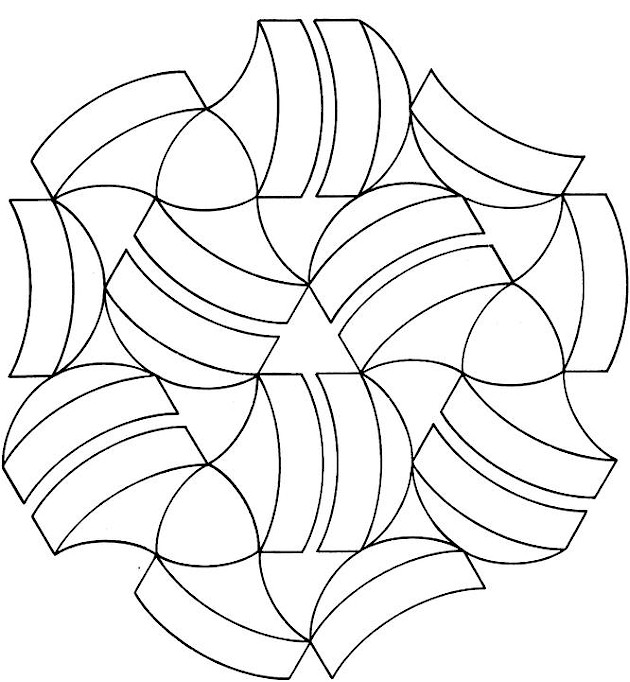 free geometric shapes coloring pages - photo#29