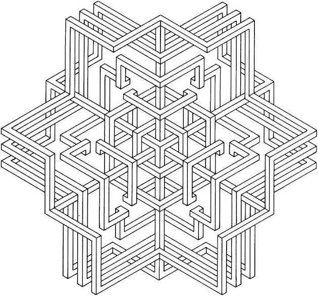 coloring pages for adults geometric - photo#5
