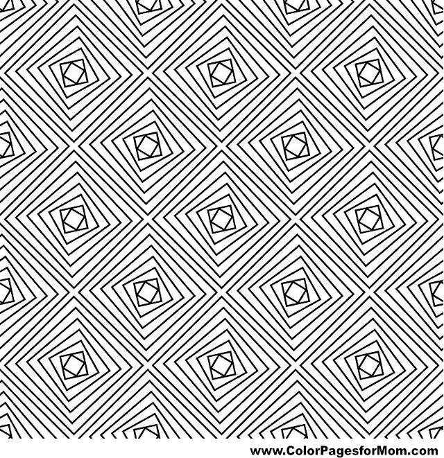 Geometric Shapes Coloring Page 71