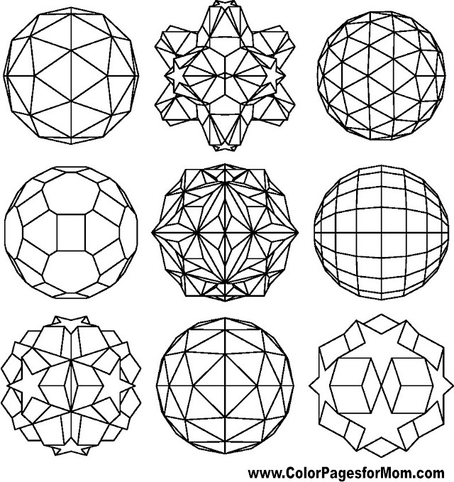 Geometric shapes coloring page 89 for Geometric shape coloring pages
