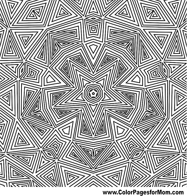 Geometric shapes coloring page 93 Geometric coloring books for adults