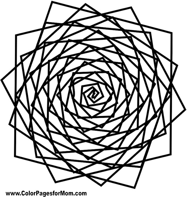 Pin 16 geometric shapes coloring pages free page site on for Geometric shapes coloring pages