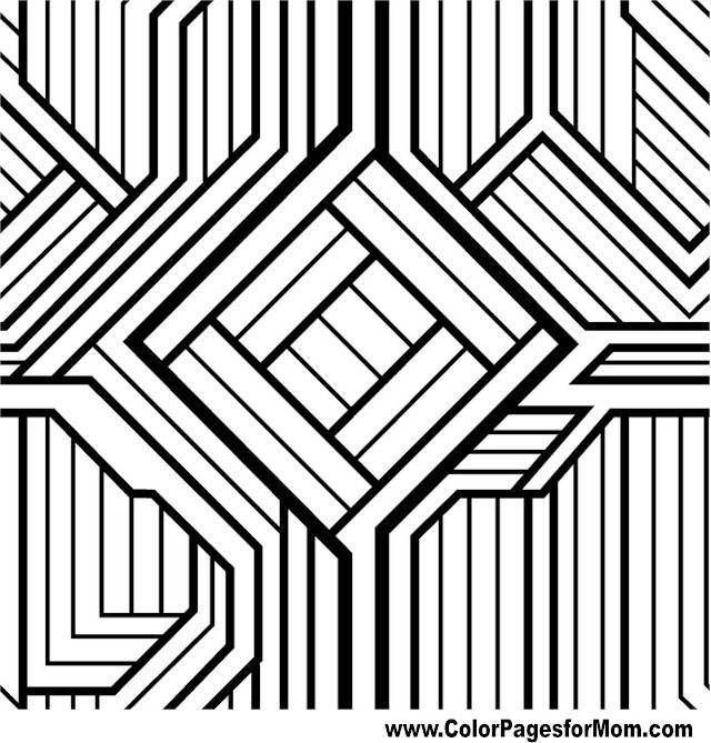Geometric shapes coloring page 97 for Geometric shapes coloring pages