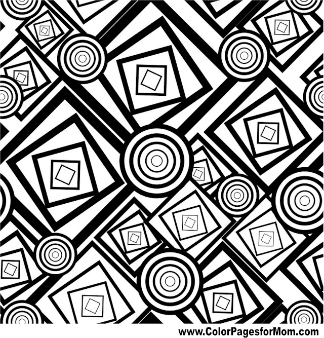 shapes coloring pages for adults - photo#12