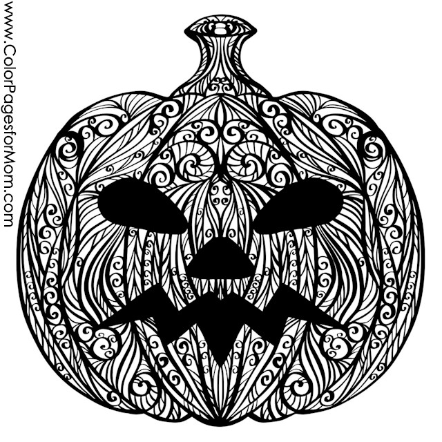 Halloween Coloring Pages Advanced : Advanced coloring pages halloween jack o lantern page
