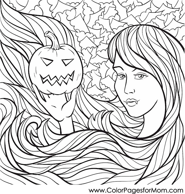 Halloween Coloring Pages Advanced : Advanced coloring pages halloween page