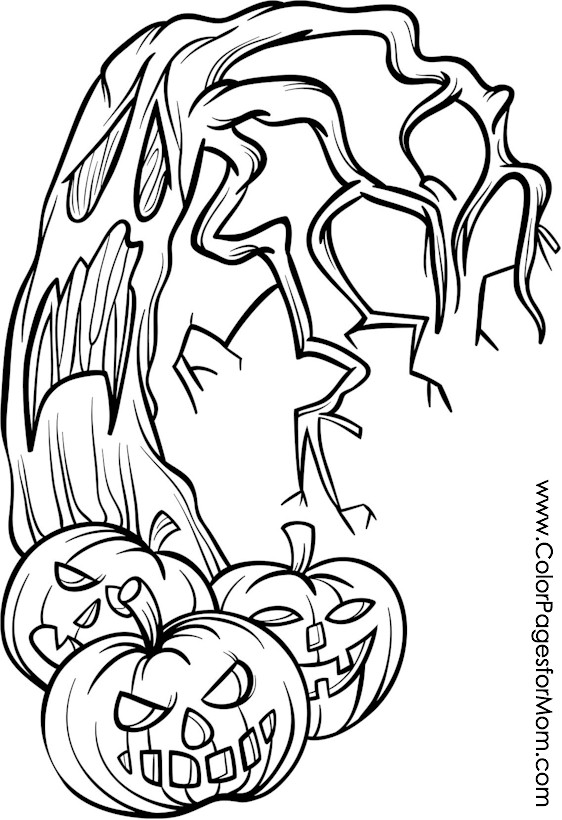 Coloring pages for adults Halloween Jack o Lanterns