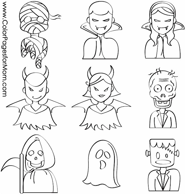 Coloring Pages For Adults Halloween Monsters Coloring Page