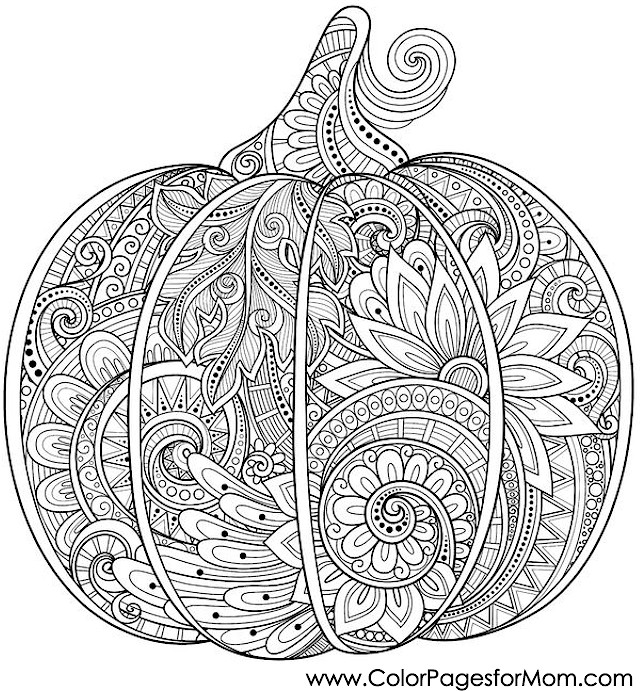 Halloween Coloring Pages Advanced : Coloring pages for adults halloween pumpkin page