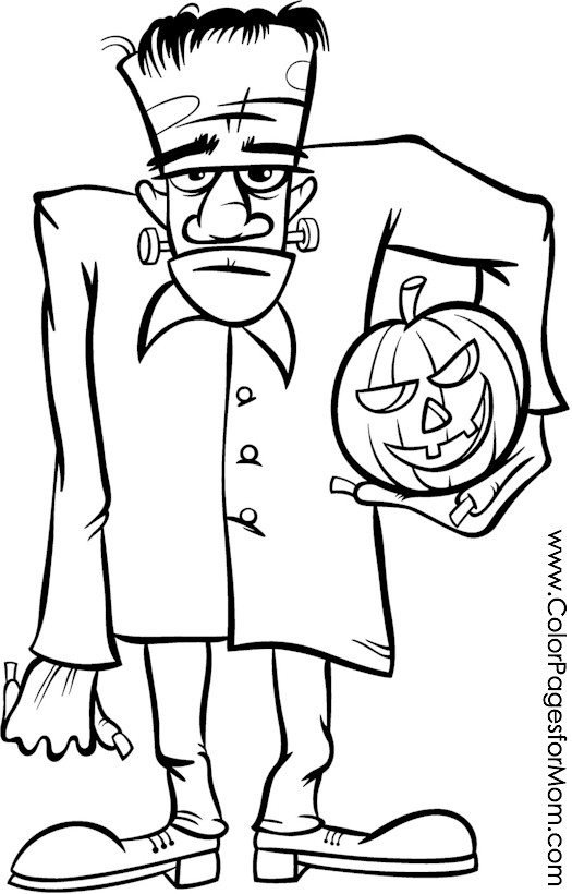 halloween frankenstein coloring coloring pages
