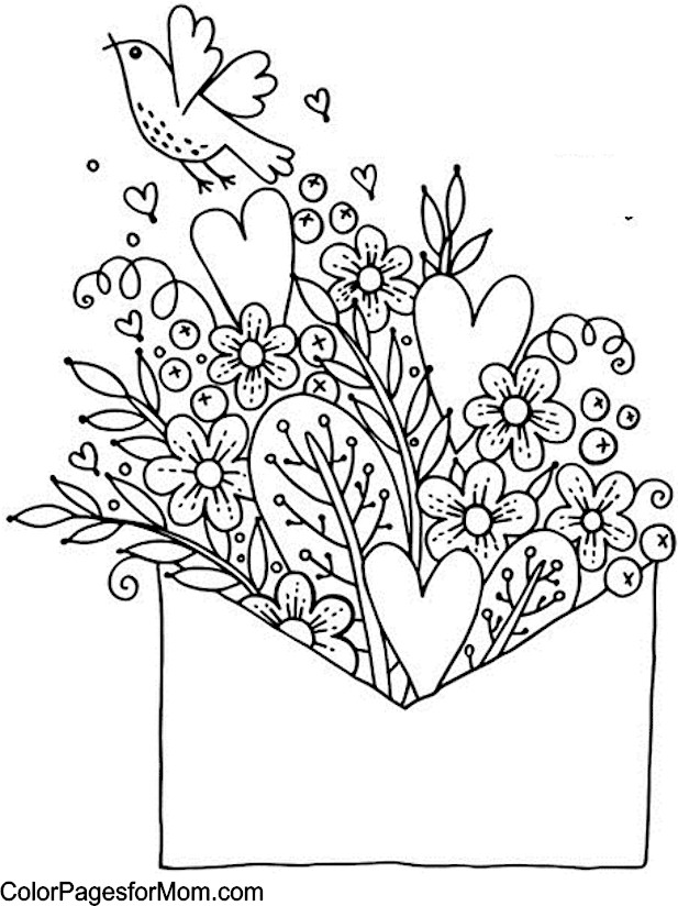 valentine coloring pages advanced - photo #4