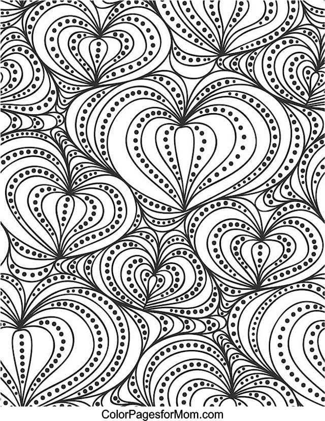 Hearts 2 Advanced Coloring Pages
