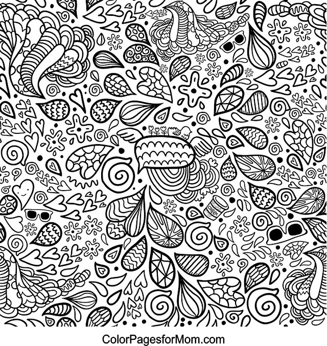 Hearts 25 Advanced Coloring Page