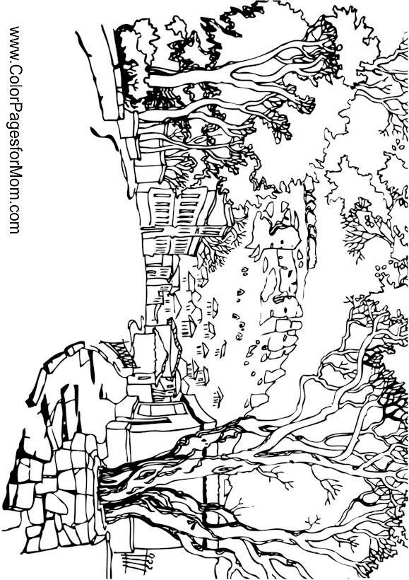 Free Printable Coloring Pages For Adults Landscapes : Free coloring pages of adult landscape