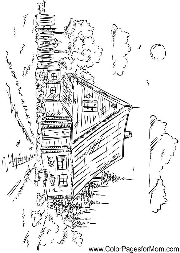 landscape coloring page 49