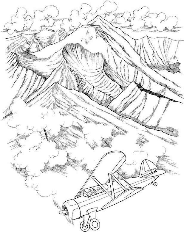 landscape coloring page - Printable Scenery Coloring Pages