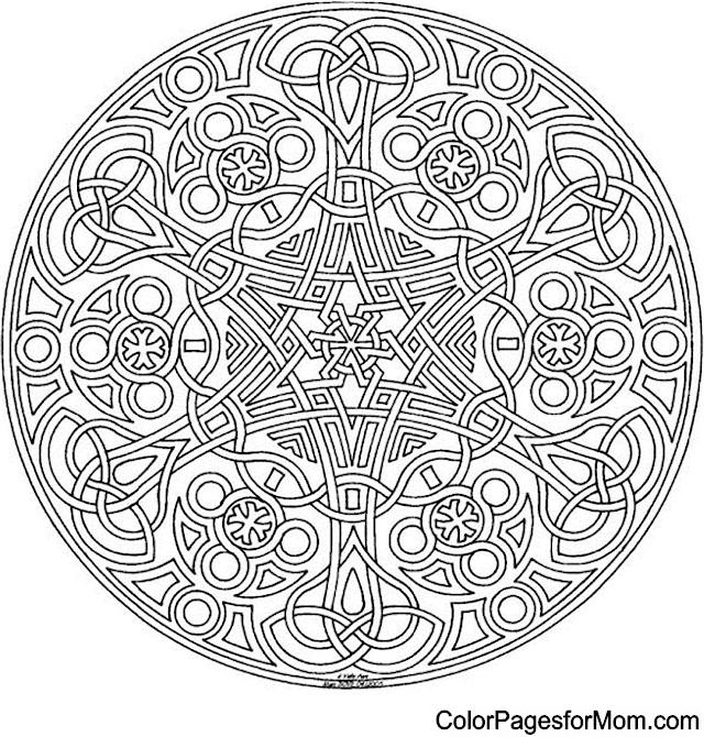 Mandala 2 Advanced Coloring Page