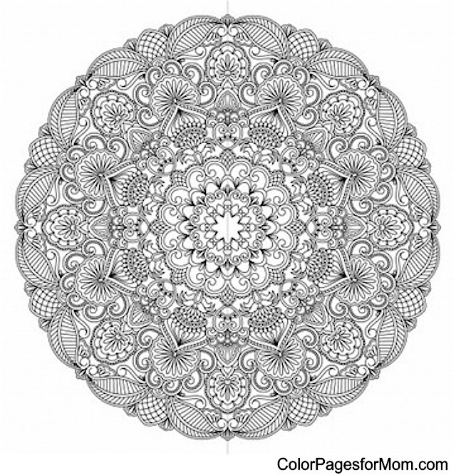 Mandala 24 Advanced Coloring Pages
