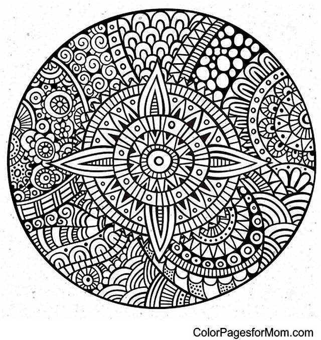 advanced mandala coloring pages - photo#16