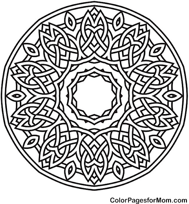 Mandala 39 Advanced Coloring Page Therapy Coloring Pages