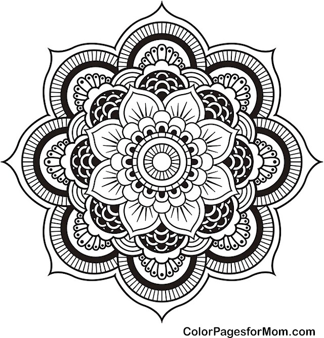mandala 4 coloring page - Advanced Coloring Pages