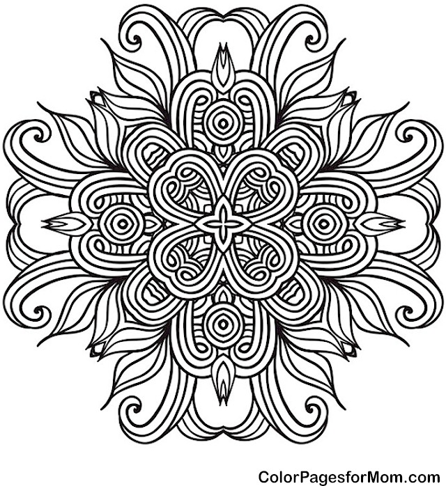 Mandala 41 Advanced Coloring Page